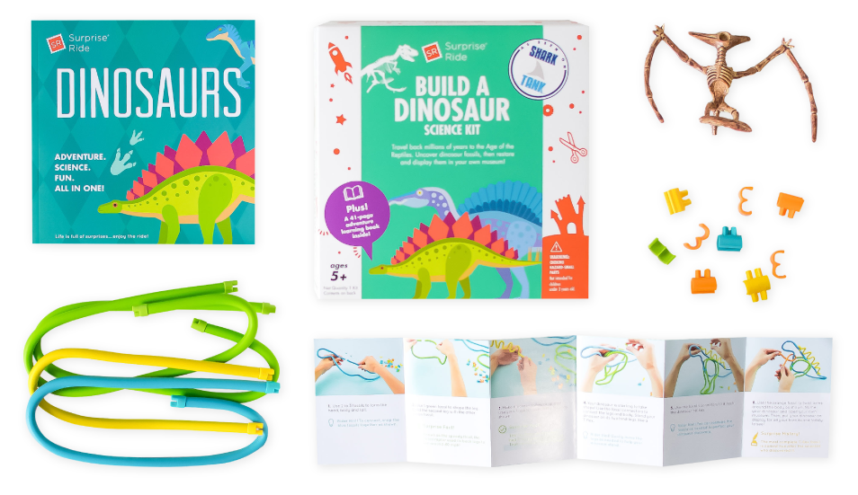 Surprise Ride Build A Dinosaur Science Kit!